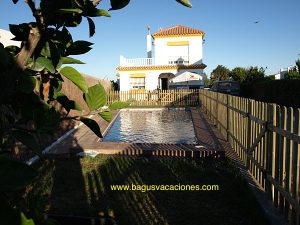 Chalet Ohm el palmar, 4 dormitorios, piscina privad, muy cerca de la playa