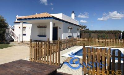 Casa Villa Paola, piscina privada para 8 personas en la playa el Palmar