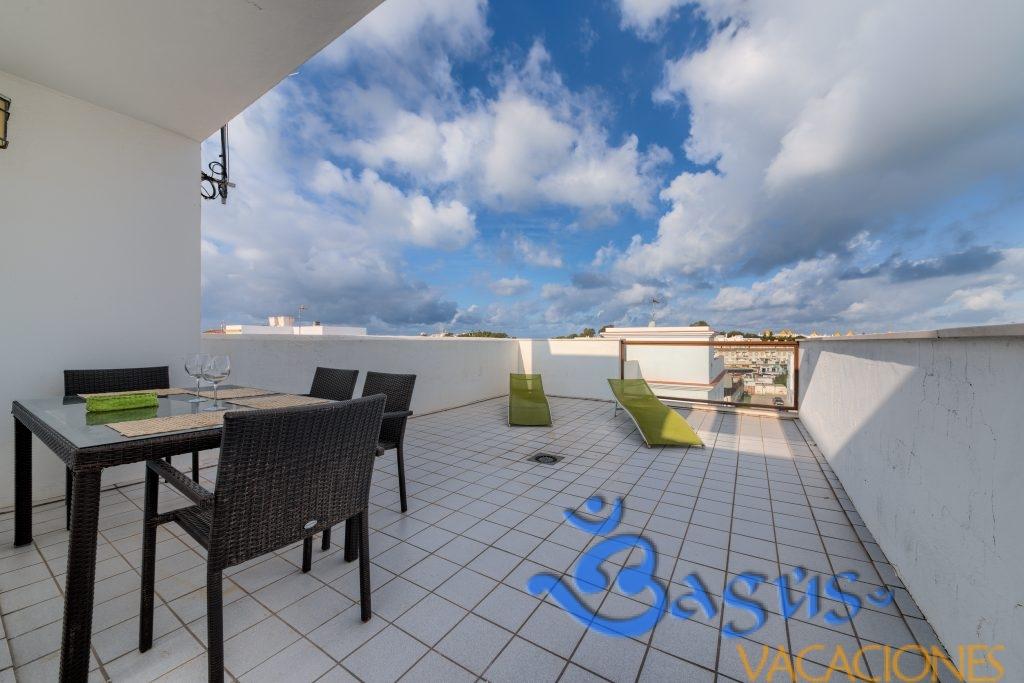 Duplex Mercurio Conil, terraza privada