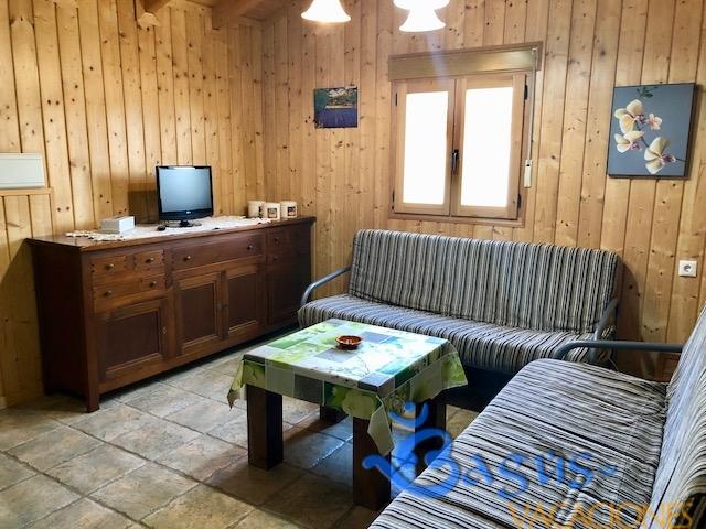 Casa de Madera el Palmar, 2 dormitorios, a 150 m de la playa para 4 personas