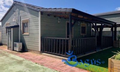 Casa de Madera El Palmar a tan solo 150m de la playa, precios economicos