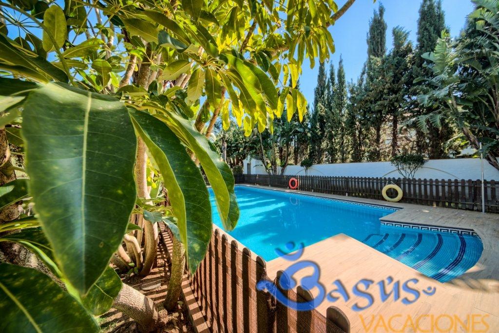 apartamentos planta alta Hacienda Roche Viejo, piscina compartida