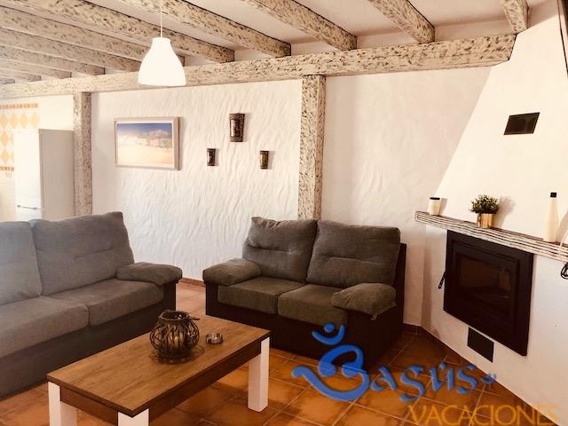 Casa Ibicenca Palmar 2, 3 dormitorios, 6 personas, piscina privada, a 600m de la playa.