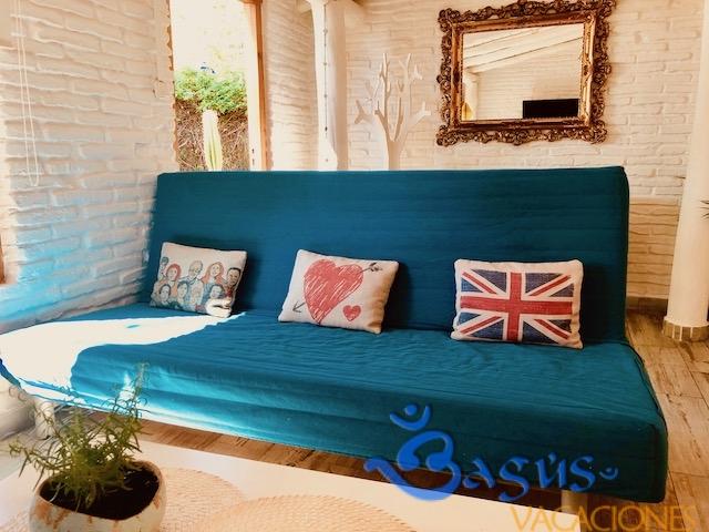 La Casita Silvestre El palmar, moderna, en zona tranquila, de un dormitorio, a 500 m de la playa.