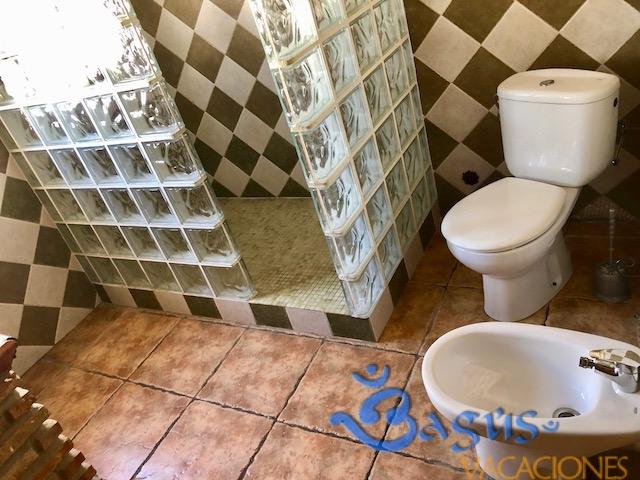 Casa Carmela en el Palmar con baño placa ducha