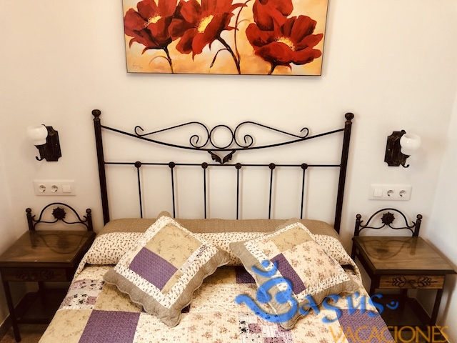 cama matrimonio apartamento en Conil