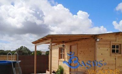Estudio/Bungalow de madera con piscina prefabricada