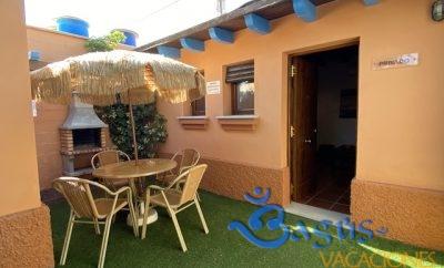 Estudio equipado con jardín privado y piscina compartida en El Palmar