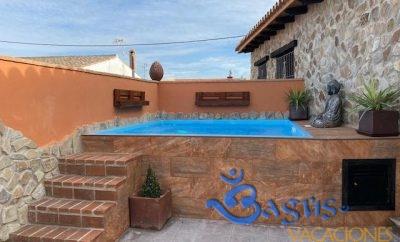 Casa de vacaciones en el Palmar con piscina privada