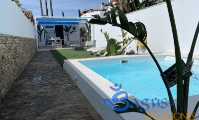 Casita con piscina privada en el palmar para dos personas